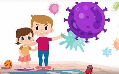 Τα μικρά παιδιά μαθαίνουν τι είναι ο κορωνοϊός και πώς να προστατεύονται απ' αυτόν
